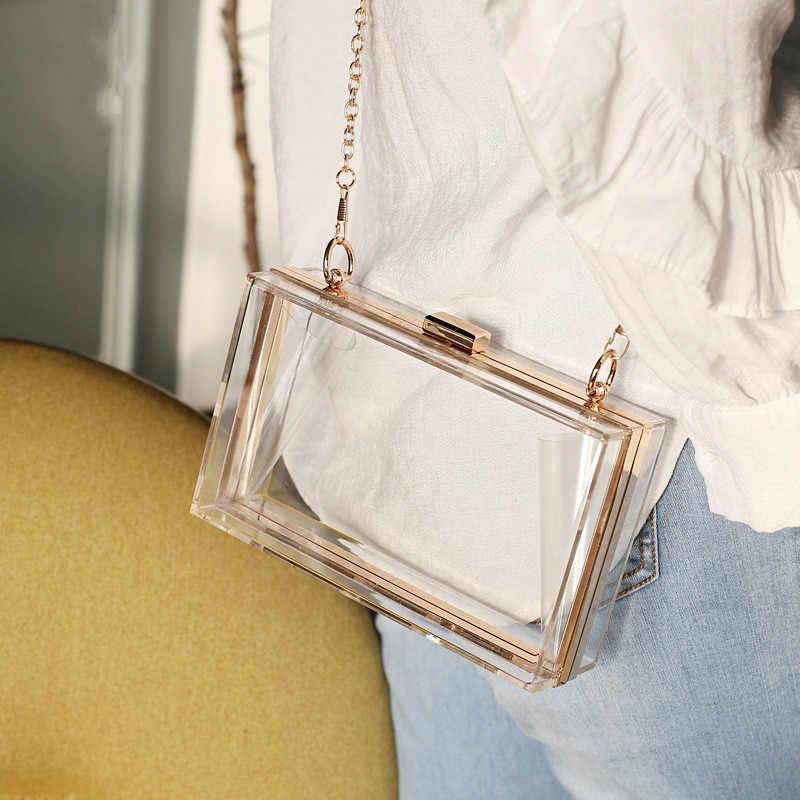 Женские акриловые прозрачные сумочки милые, прозрачные сумки через плечо Lucite прозрачные сумки вечерние клатчи мероприятия стадион одобрен