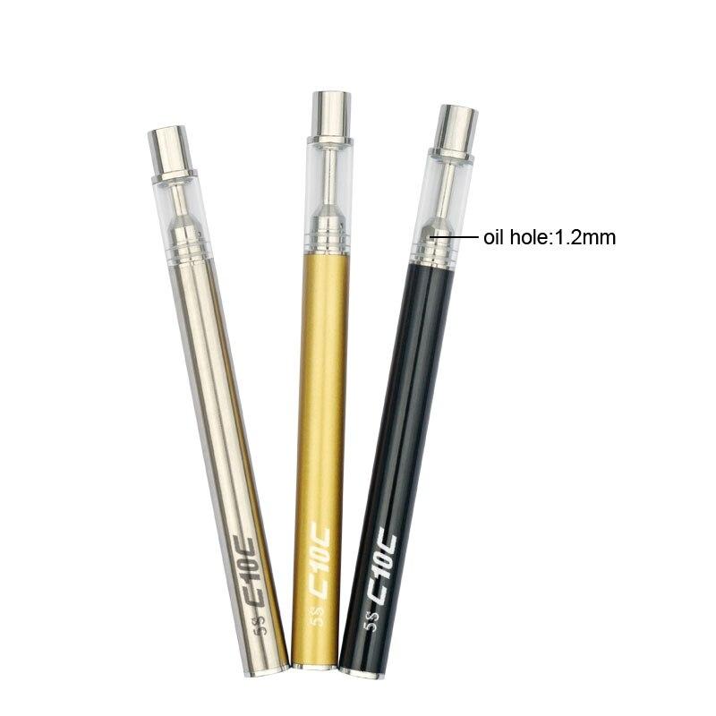 10pcs Mjtech 5s mini atomizer tank disposable vape pen Electronic Cigarette 320mah Battery Pyrex glass Vaporizer