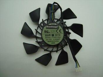 Gratis Verzending EVERFLOW T129215SU DC 12 V 0.5A Vga-kaart Koelventilator Voor Grafische Kaart ASUS GTX780 GTX780TI R9 280 290 R9 280X 290X