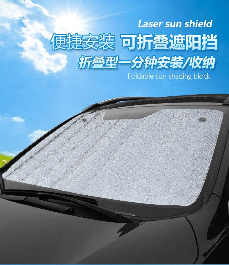 70x130cm Car foldable reflective shade Auto Windshield Sunshade Sun Shade  Windshield Visor Dashboard Cover Block Heat Reflective 7efa06b1135