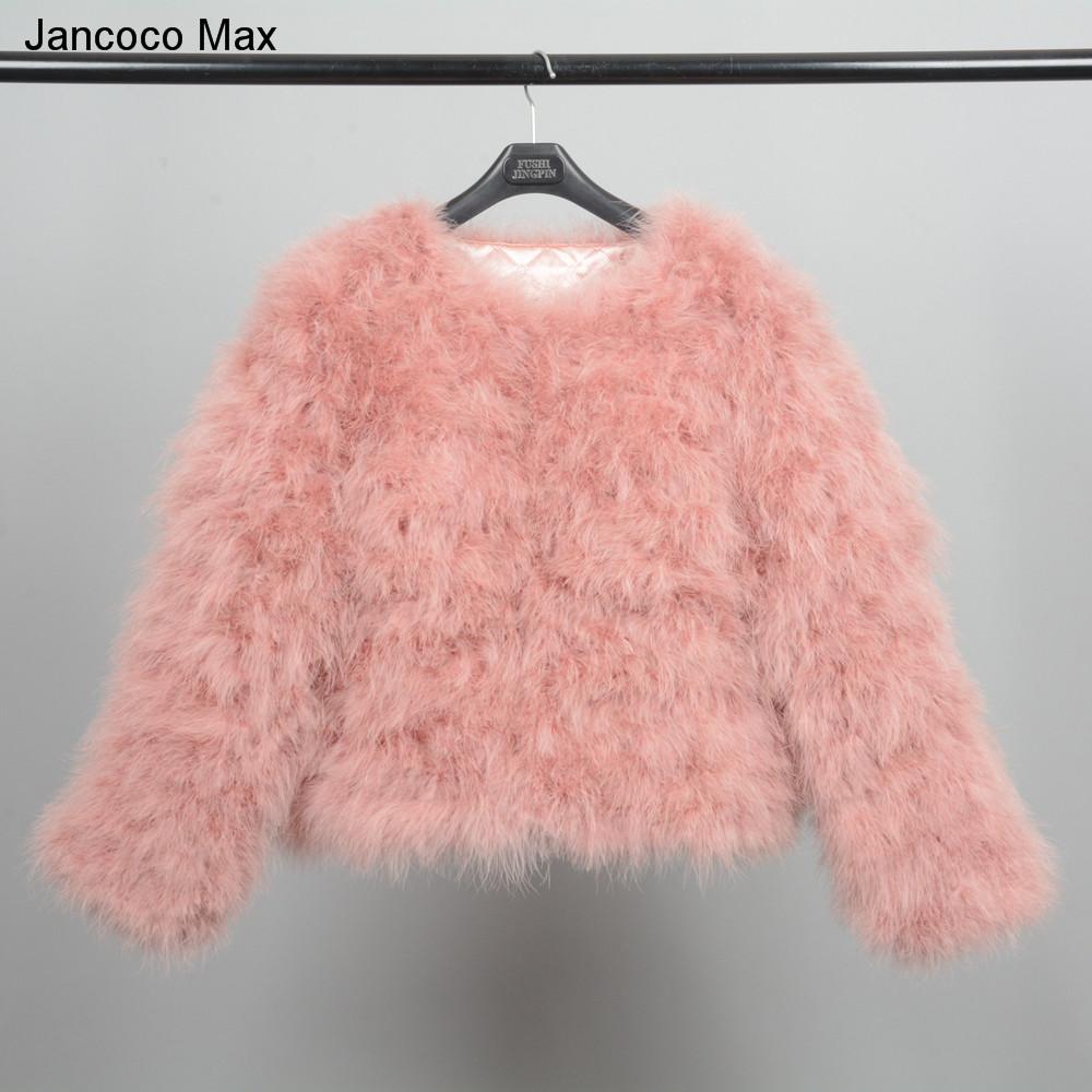e632a2ec953 2019 Jancoco Max S1002 Women 2019 Real Fur Coat Genuine Ostrich ...