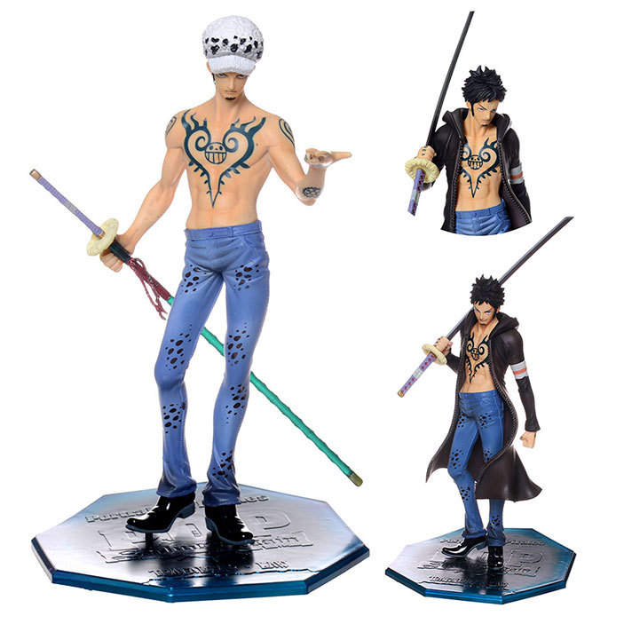Assembled 2 bodies 24cm one piece come on trafalgar d for One piece law tattoos