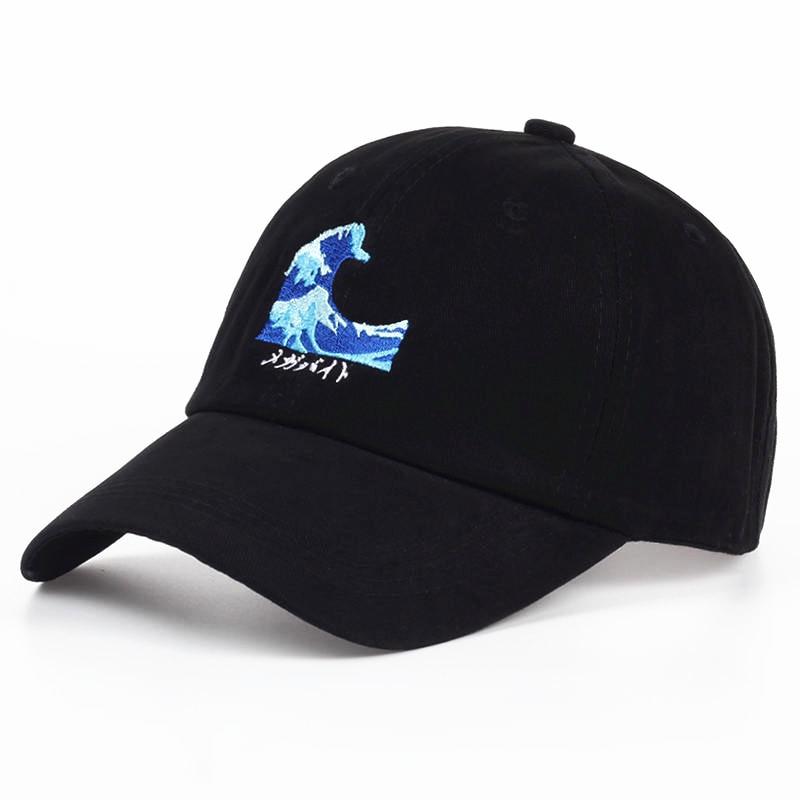 VORON Breathable Waves Snapback Dad Caps Strapback Baseball Cap Bboy Hip-hop Hats For Men Women Fitted Hat Black Pink White