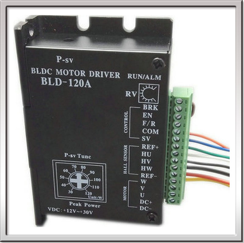 Free shipping CE ROHS Brushless DC motor Driver BLDC Controller BLD-120A for 120W or less 42 Brushless Motor and  42BLS04 motor