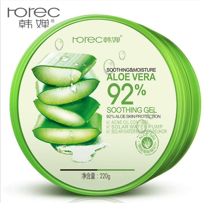 220g 100% Pure Natural Aloe Vera Gel Smoothing Moisture Repair Cream Eliminate Edema Sunblock Face Mask
