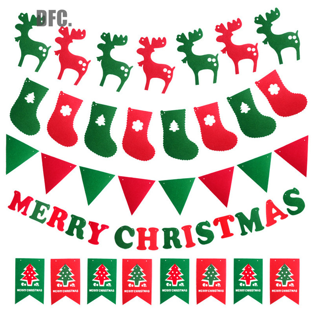 Capodanno A Casa Di Babbo Natale.Dfc Babbo Natale Bandiere Bunting Banner Decorazioni Per La Casa