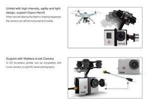 Image 5 - Оригинальный безщеточный карданный подвес Walkera G 2D из алюминиевого сплава для камеры iLook / Gopro Hero 3 / Sony для QR X350 PTZ