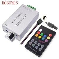 DC12V 24V 18 Keys RGB Music LED Controller RF Remote Sound Sensor Voice Audio Control For