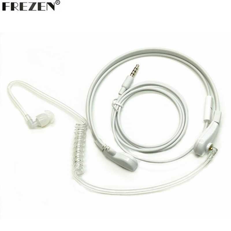 1 Pin 3.5mm Throat Mic Microphone Headset Covert Air Tube Earpiece Headphones For Phone Mobile Phone PC