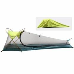 Tienda de campaña, impermeable portátil ligero de una sola persona al aire libre tienda de cabina instantánea, refugio solar para Camping, senderismo, en