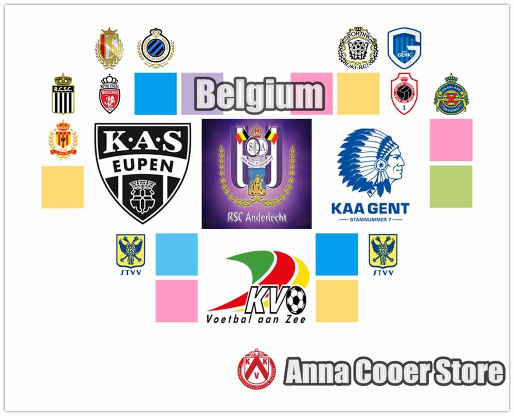 Diy 5D ダイヤモンドクロスステッチダイヤモンド刺繍ベルギーサッカーロゴパターンサッカーバッジ、サッカーチームの旗水滴 ZT24