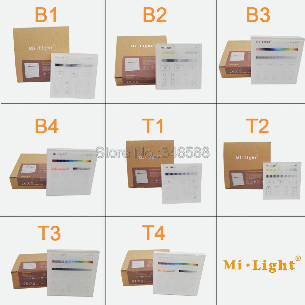 Mi.light Smart Touch Panel Controller B1 B2 B3 B4 T1 T2 T3 T4 Single Color / RGBW / RGB + CCT For Led Strip / Panel Light / Bulb цена