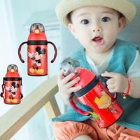 Disney Baby Insulated Mug Bottle Thermos Water Cup Feeding 2019 Winter Kid School Kettle Stainless Steel Thermal Cup