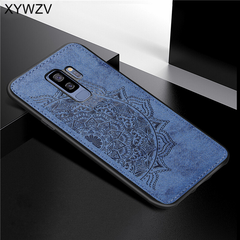 For Samsung Galaxy S9 Plus Case Soft TPU Silicone Cloth Texture Hard PC Phone Case For Samsung S9 Plus Cover For Galaxy S9 Plus-in Fitted Cases from Cellphones & Telecommunications