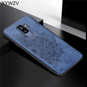 Image 1 - For Samsung Galaxy S9 Plus Case Soft TPU Silicone Cloth Texture Hard PC Phone Case For Samsung S9 Plus Cover For Galaxy S9 Plus