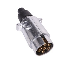 12V car Accessories 7 Pin Metal Trailer Plug Durable European 7 way Aluminium Alloy socket Towing Electrics adapter Connector