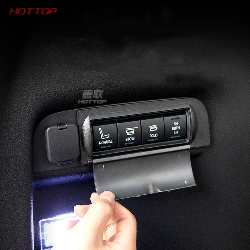 Car Accessories Black Plastic Seat Adjustment Button Protective Cover Trunk Switch Cap Fit For Ford Explorer 2013-2017