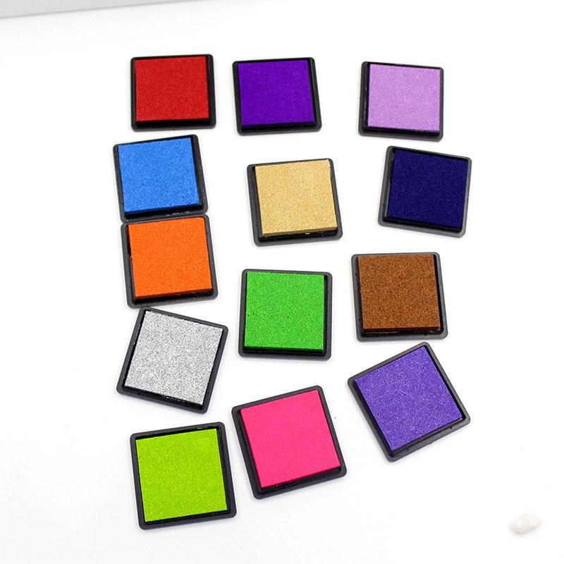 Various Optional 4cm Ink Gasket Cut Color Seal Ink Mud Fence Decorative Mold Digital Printing Card Production Crafts DIY