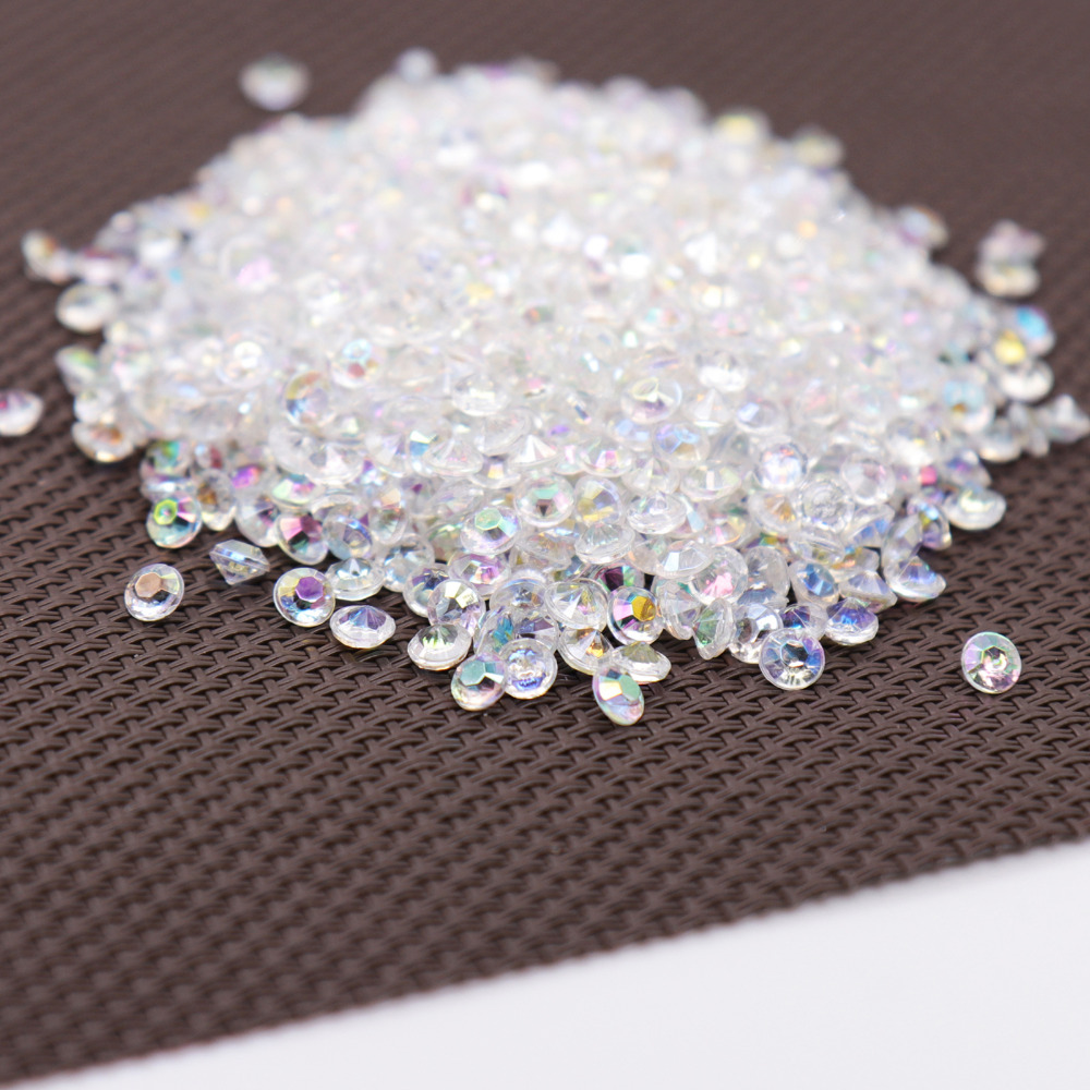 1000PS 4.2mm Acrylic Diamond Confetti Wedding Decoration Crafts Diamond Confetti Table Scatters Clear Crystal Centerpiece Party(China)