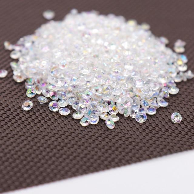 1000 ps 4.2mm Acrílico Diamante Confetti Decoração Do Casamento Artesanato Diamante Confetti Tabela Dispersadores Cristal Claro Do Partido Central