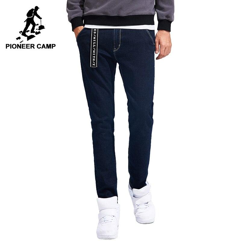 Пионерский лагерь Новое поступление мужские джинсы брендовая одежда одноцветное небольшой стрейч Штаны мужской наивысшего качества прямы...