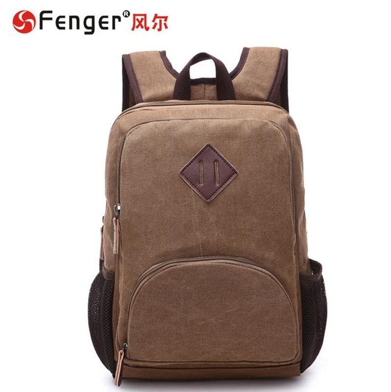 ФОТО New Korean version casual Male canvas backpack Student school bag Travel Bags Men's double shoulder bag couro bolsa