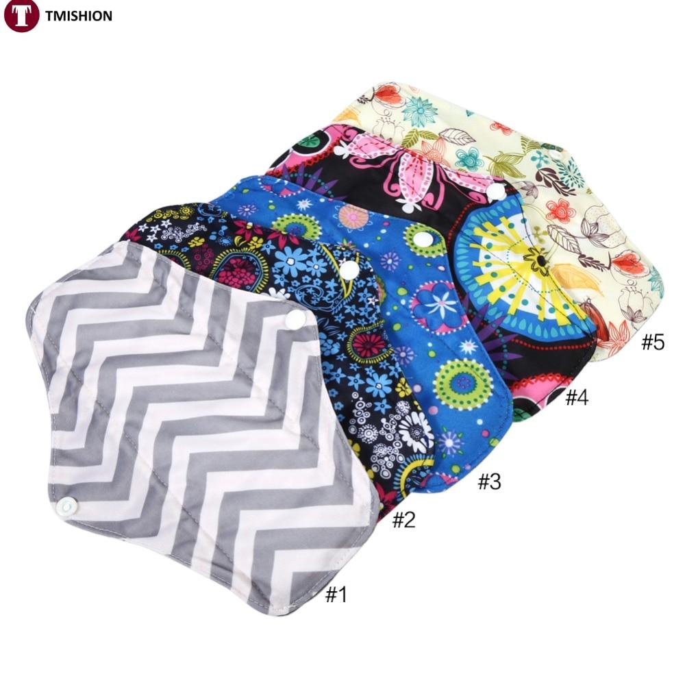 1PC Reusable Charcoal Bamboo Cloth Menstrual Pads Washable Sanitary Towel Panty 5 Colors brand new