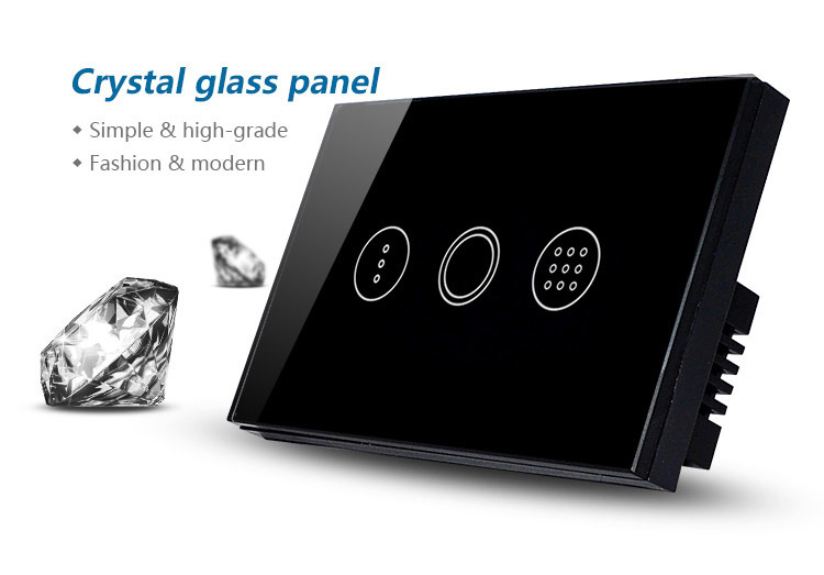 Luxury Touch Wall Timer Switch Capacitive Touch Sensitive
