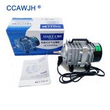 70Л/мин 45 Вт Hailea ACO-318 электромагнитный воздушный компрессор аквариума воздушный насос для аквариума для увеличения кислорода