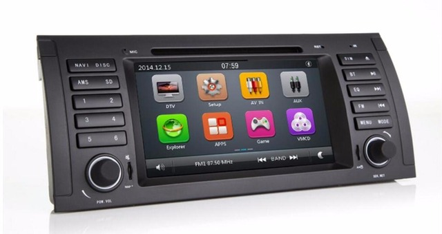 Car DVD GPS for BMW E39 X5 E53 M5 E38 with player navigation Radio stereo multi media Audio STW USB capacitive screen