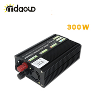 300W Continuous 600W Peaking Pure Sine Wave Inverter DC to AC Off Grid Solar Power Home Inverter for Car