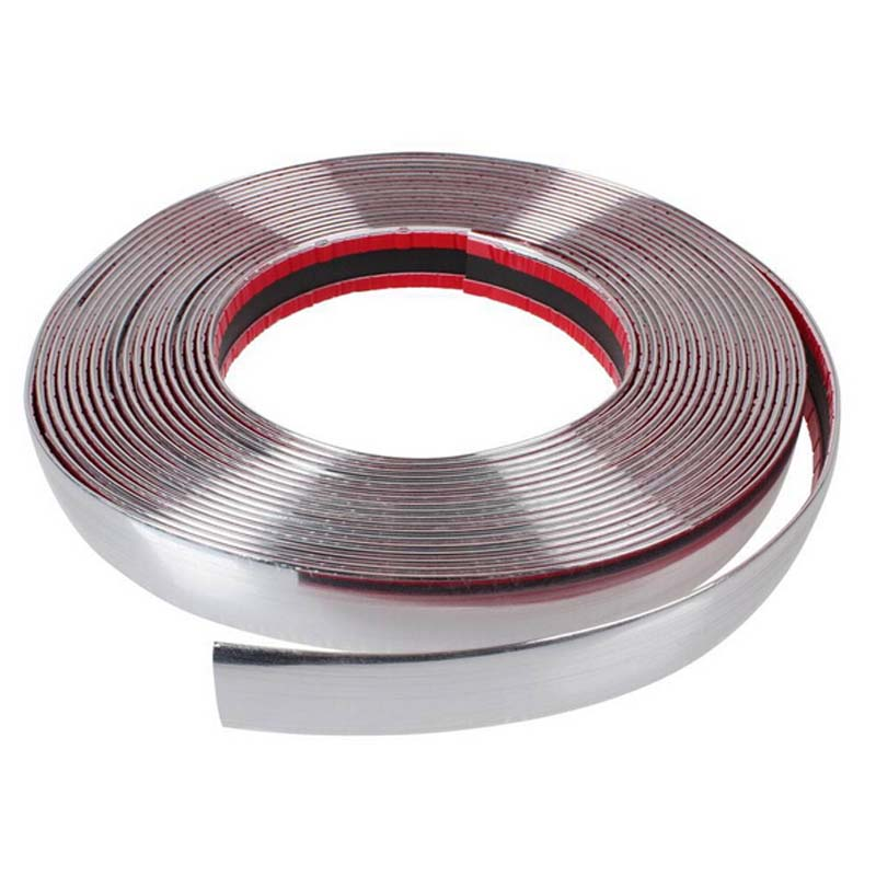 Image 5 - 13M Car Chrome Body Strip Bumper Auto Door Protective Moulding Styling Trim Sticker 6MM 8MM 10MM 12MM 15MM 18MM 20MM 25MM 30MM-in Styling Mouldings from Automobiles & Motorcycles