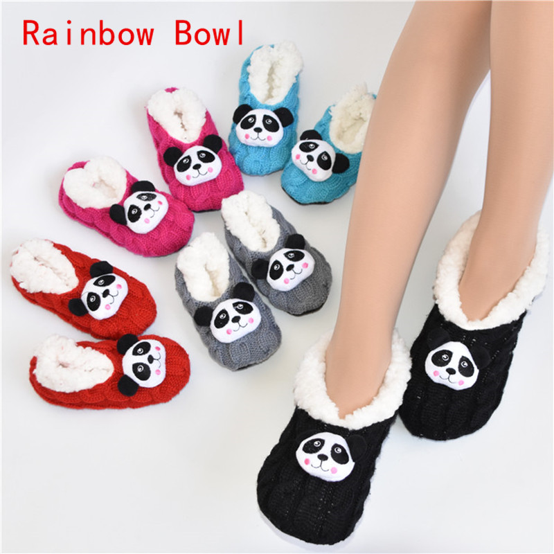 Rainbow Bowl Free Shipping Autumn Winter Warm Slipper Socks Indoor Home Shoes Floor Shoes Sliiper Socks Soft Sole Plush Shoes 2017 free shipping home soft plush home shoes slippers coral fleece indoor floor sock indoor slipper winter foot warmer best