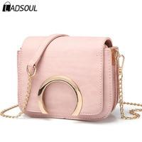 Ladsoul Mini Women Handbags Women Messenger Bags Pu Leather Handbag Flap Crossbody Bag Female Clutches Small