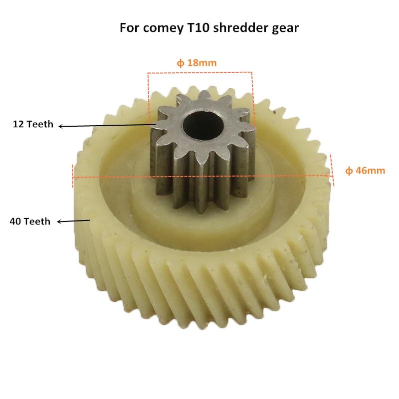 Suitable For T10 Shredder Gear Accessories S8 S1 S2 T6 Rubber Wheel Gear Roller Gear 12T+40T 12 Teeth 40 Teeth