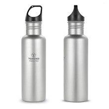 TOMSHOO уличная посуда 750 мл полная титановая бутылка для воды с дополнительной пластиковой крышкой Кемпинг Туризм Велоспорт чашка для воды спортивная бутылка