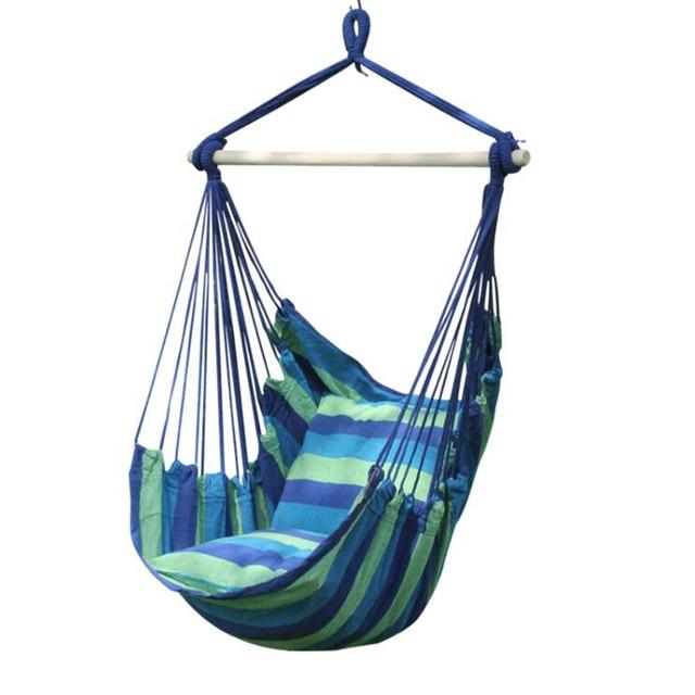 Leinwand hängematte tragbare outdoor cradle stuhl bequeme innen haushalt hängesessel schlafsaal freizeit hängesessel w4