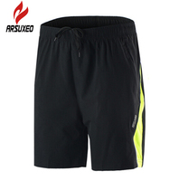 ARSUXEO Training Fitness Riding Jogging Men S Athletics Male Black Boxers Quick Drying Short Outdoor Summer