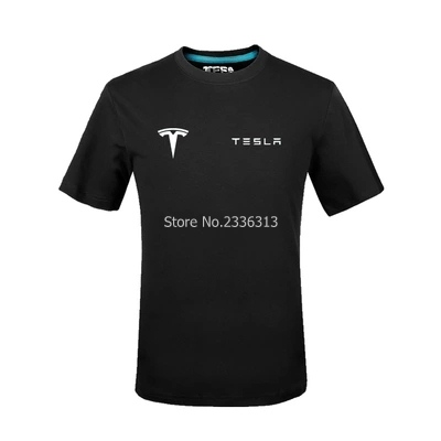 Tops & Tees Beautiful Men And Women Tooling Short-sleeved 4s Shop Uniforms Tesla T-shirt Custom Car Club Will Be A Half-shirt T Shirt Choice Materials