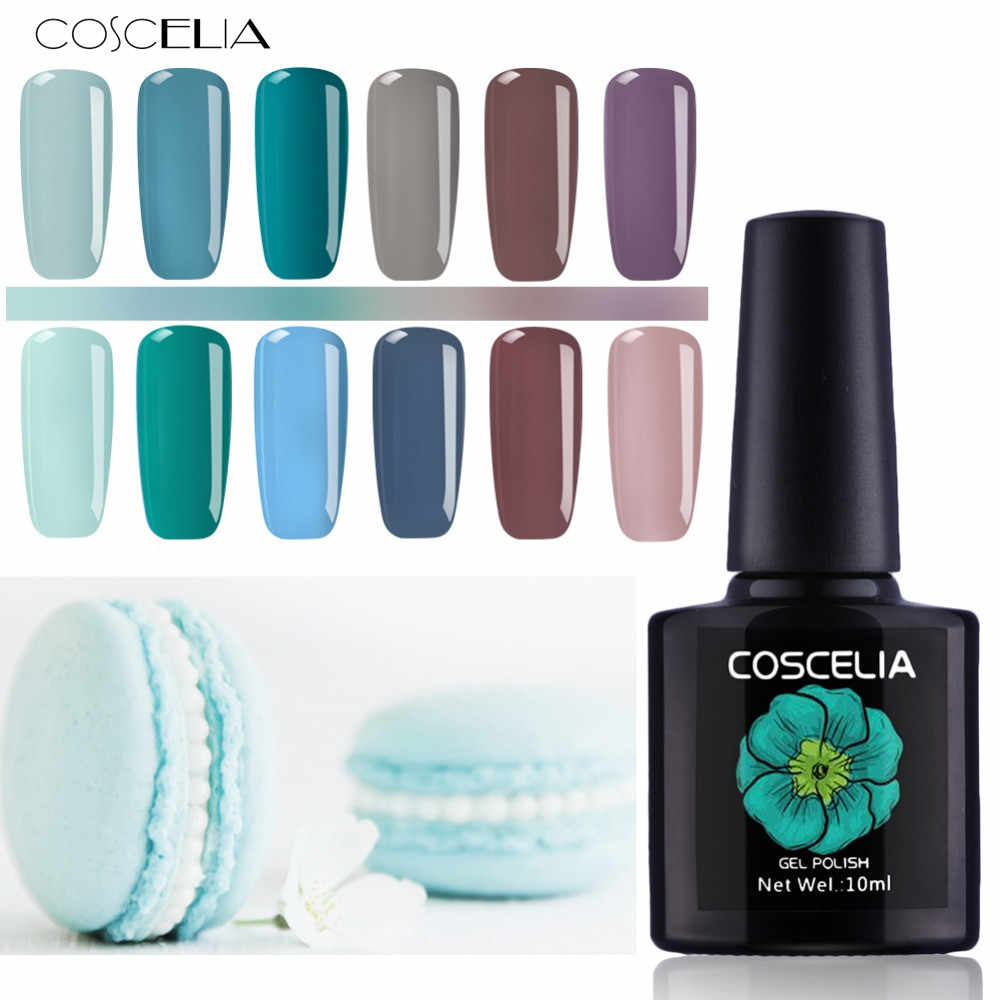 COSCELIA Nail Gel Polish Hoge Kwaliteit Nail Art Salon Tips 80 Hot Koop Kleur 10ml losweken Organische UV LED Nagel Gel Lak