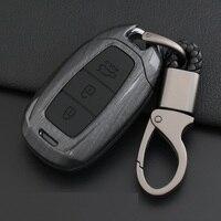 Car Remote Key Case Cover For Hyundai i30 Ix35 Solaris Azera Elantra Grandeur Ig Accent Santa Fe Verna 2017 2018 Key Shell Bag