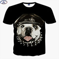 Mr.1991 brand cute pug 3D t-shirt for boys  New 2017 summer style hip-hop teens t shirt big kids tops Hot sale A42