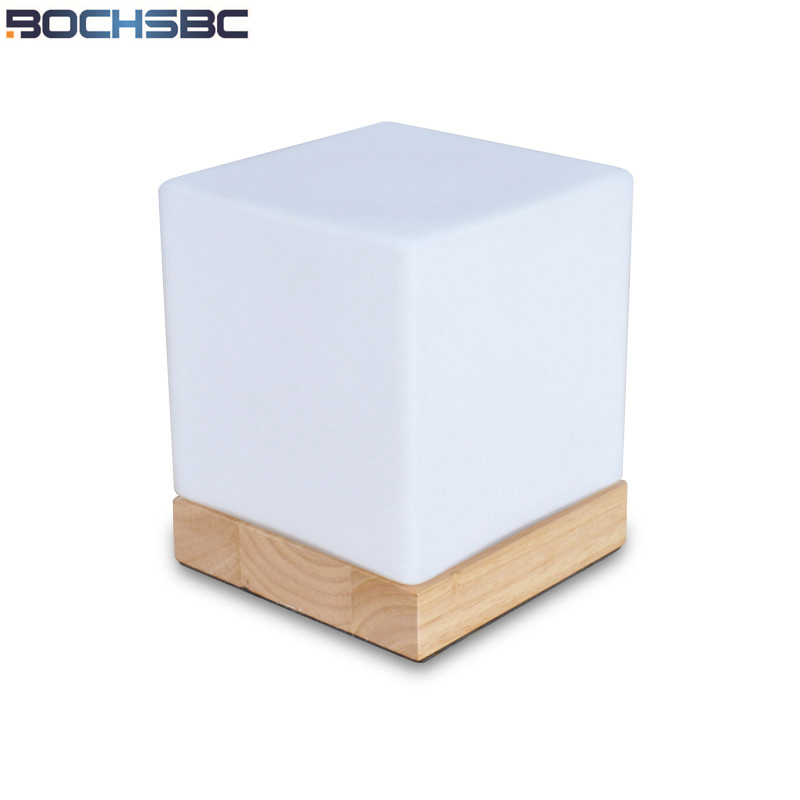 BOCHSBC Dimmer LED Night Light with Solid Base Glass Small Table Lamp for Bedroom Beside Light Study Room Lampe de table lampada цена