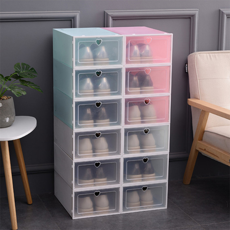 Environmentally friendly storage box transparent home storage box flip drawer finishing small items storage lockers A11228(China)