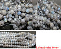 "Pick Size 4.6.8 .10MM AAA Natural Labradorite Stone Round Loose  Beads 15""/Strand For Jewelry Making-F00193"