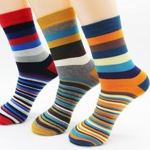 Men Cotton Stripe Socks Brand New Multi Color Anti Bacterial Comfortable Deodorant Breathable Casual Man Sock