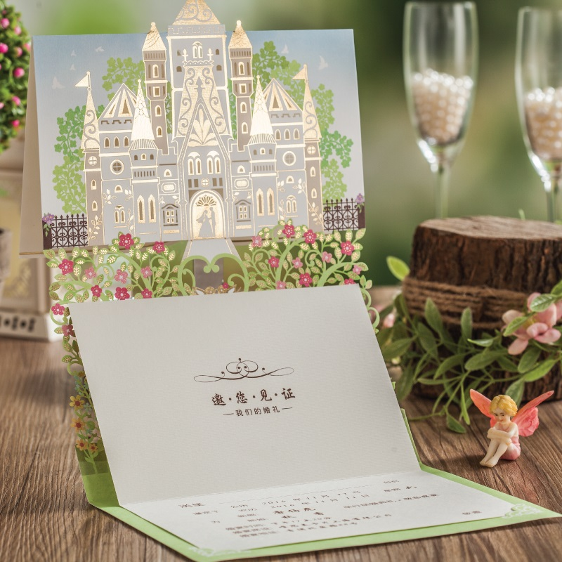 Wedding Invitations Castle Hill: Wedding Invitations Cards With Love Tree Flora Design