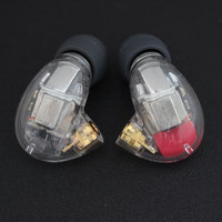New DIY SE846 Ear Hook 5 BA Earphone Transparent Case Custom HIFI 10 Unit Headphone MMCX Plated Silver Upgrade Cable Line