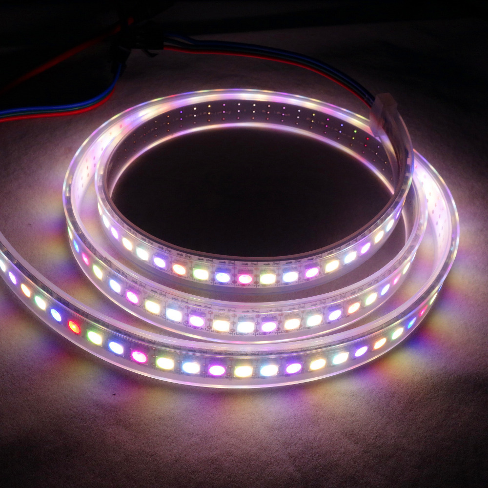 SK6812-RGBW(warm white) led addressable strip;144leds/m with 144pixels/m;waterproof in silicon tube;2m long;DC5V input;WHITE PCB чайник sinbo sk 7315 white