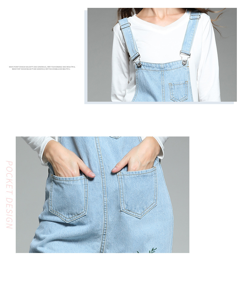 Large size women's 2018 autumn new fat mm Korean version of the embroidered piece of his pants ageing fat sister thin strappy pants (3)